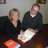 Terry Fallis shows Eileen the tricks of the trade