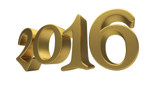 New 2016 Year 3d text on white background